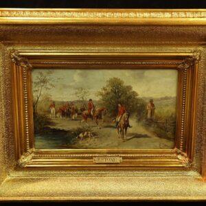 картина-19-века-маслом-с-подписью-автора