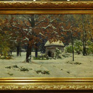картина-художника-крыжицкого-снег-выпал-снег-в-сентябре