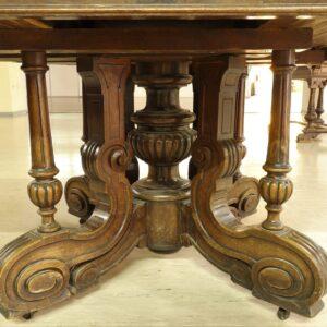 Старинный-раздвижной-стол-из-орехового-дерева